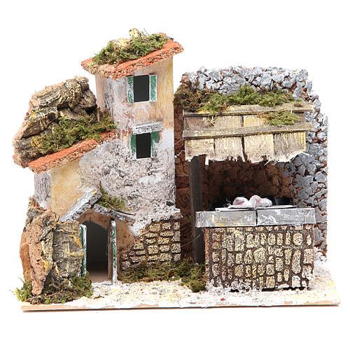Fontaine crèche avec lavoir 17x20x14 cm 1