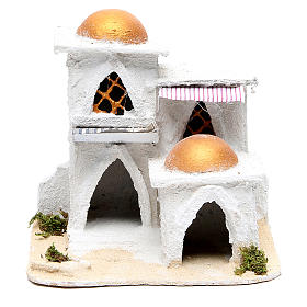 Settings, houses, workshops, wells: Nativity Arabian house 19x17x17cm