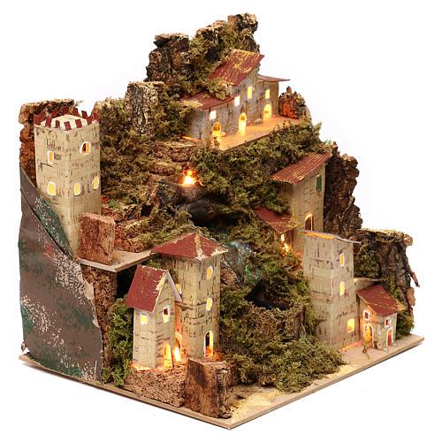 Borgo presepe con cascata cm 23x24x21 3