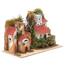 Paisaje con castillo 22x28x15 cm belén s3