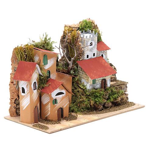 Paisaje con castillo 22x28x15 cm belén 3