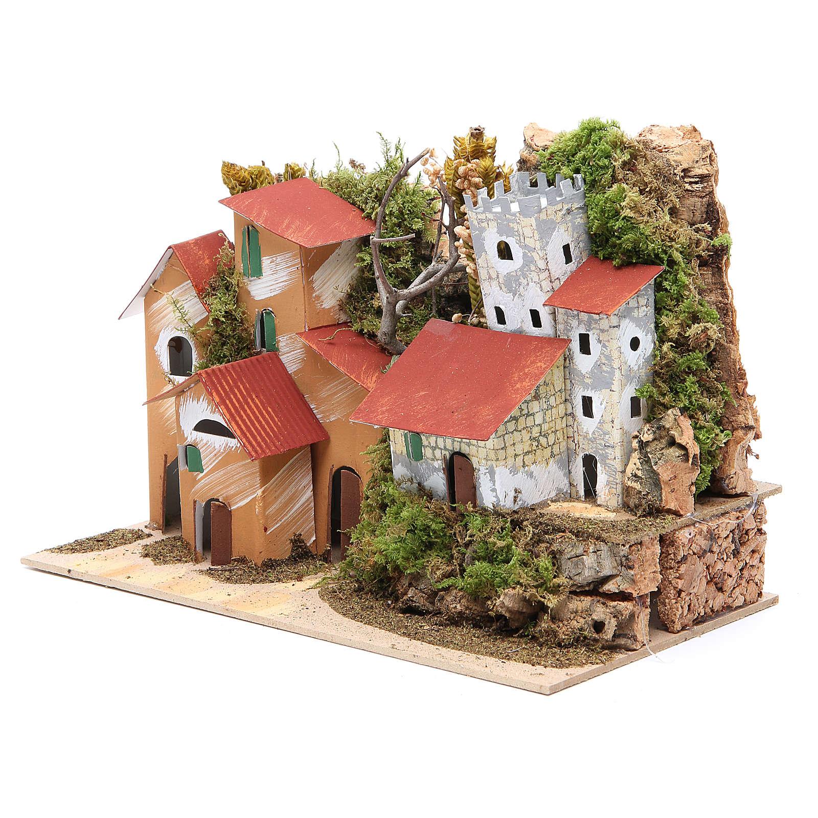 Paysage avec château 22x28x15 cm crèche 4