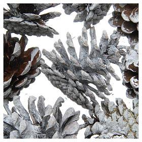 Snowy pine cones, set of 8 pieces s2