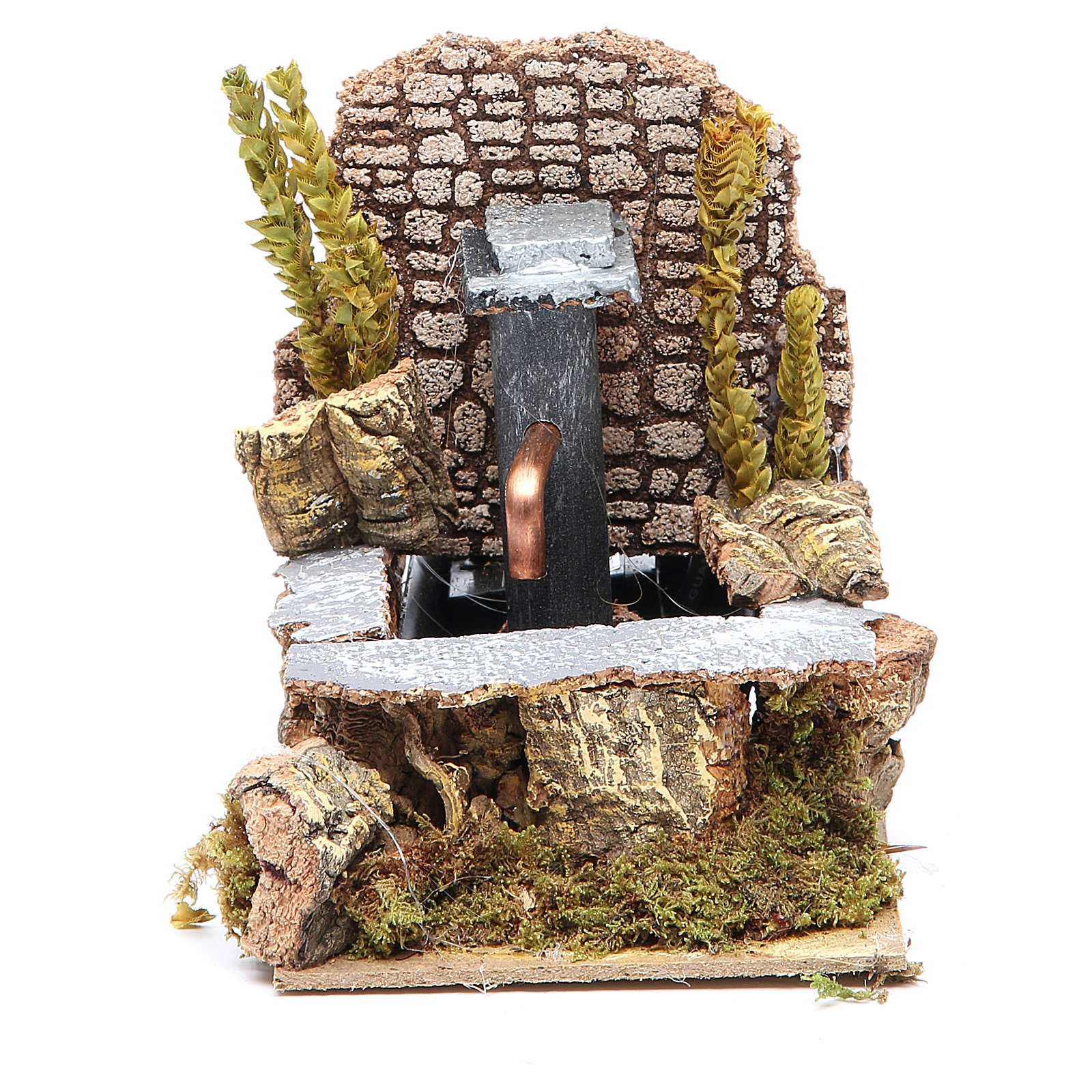 Electric fountain for nativities 14x10x15cm 4