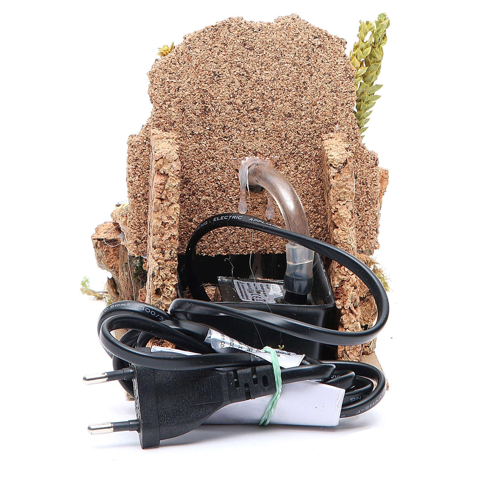Fontanella elettrica presepe 14x10x15 cm 4