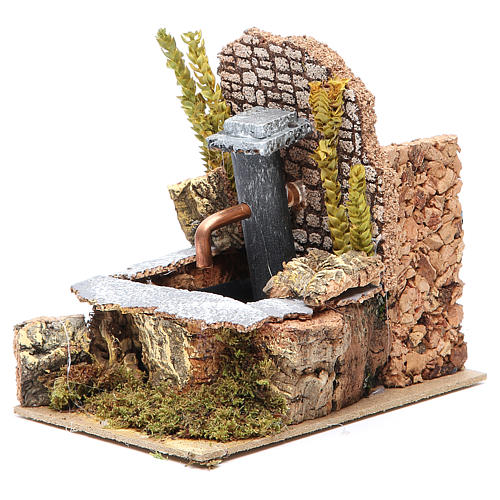 Electric fountain for nativities 14x10x15cm 2