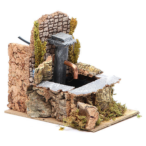 Electric fountain for nativities 14x10x15cm 3