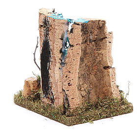 Waterfall with start of river, nativity accessory measuring 13x12x10cm s4