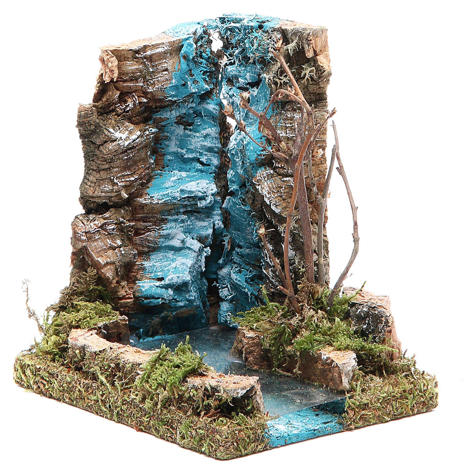 Chute d'eau avec début fleuve pour crèche 13x12x10 cm 4