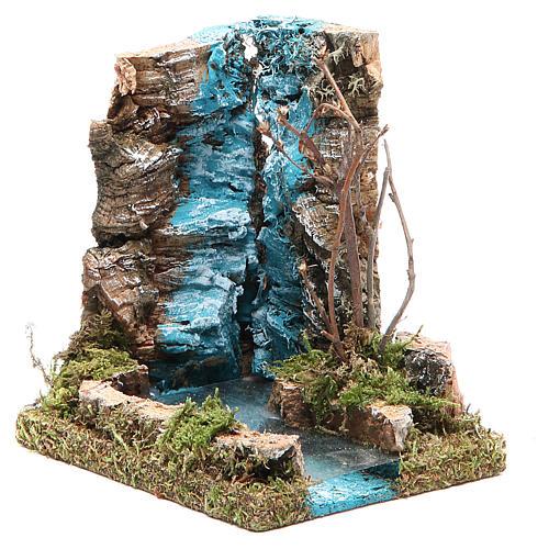 Chute d'eau avec début fleuve pour crèche 13x12x10 cm 2