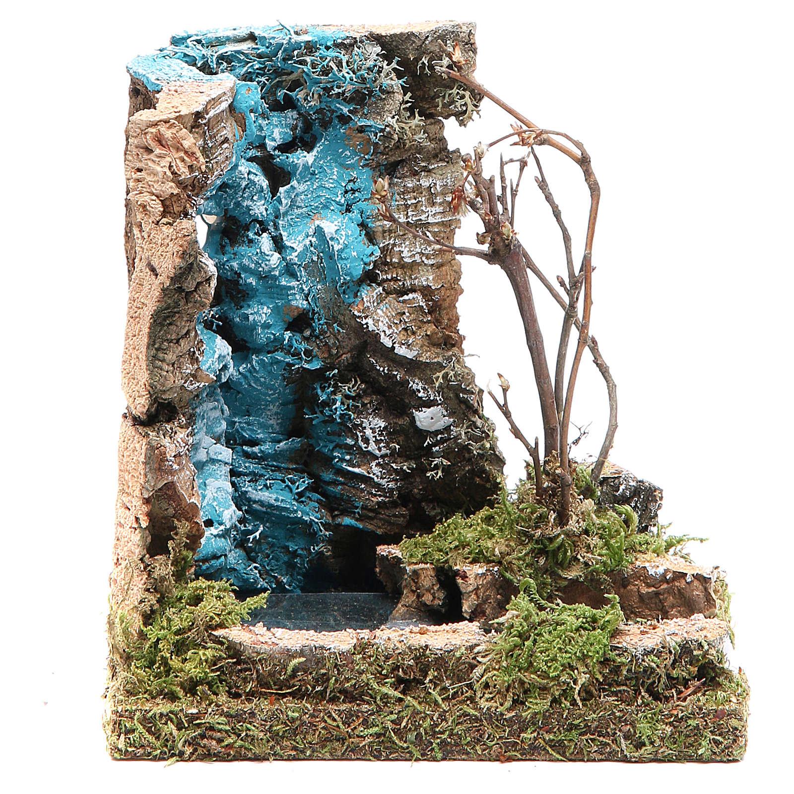Cascata con inizio fiume per presepe 13x12x10 4