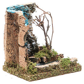Waterfall with start of river, nativity accessory measuring 13x12x10cm s3