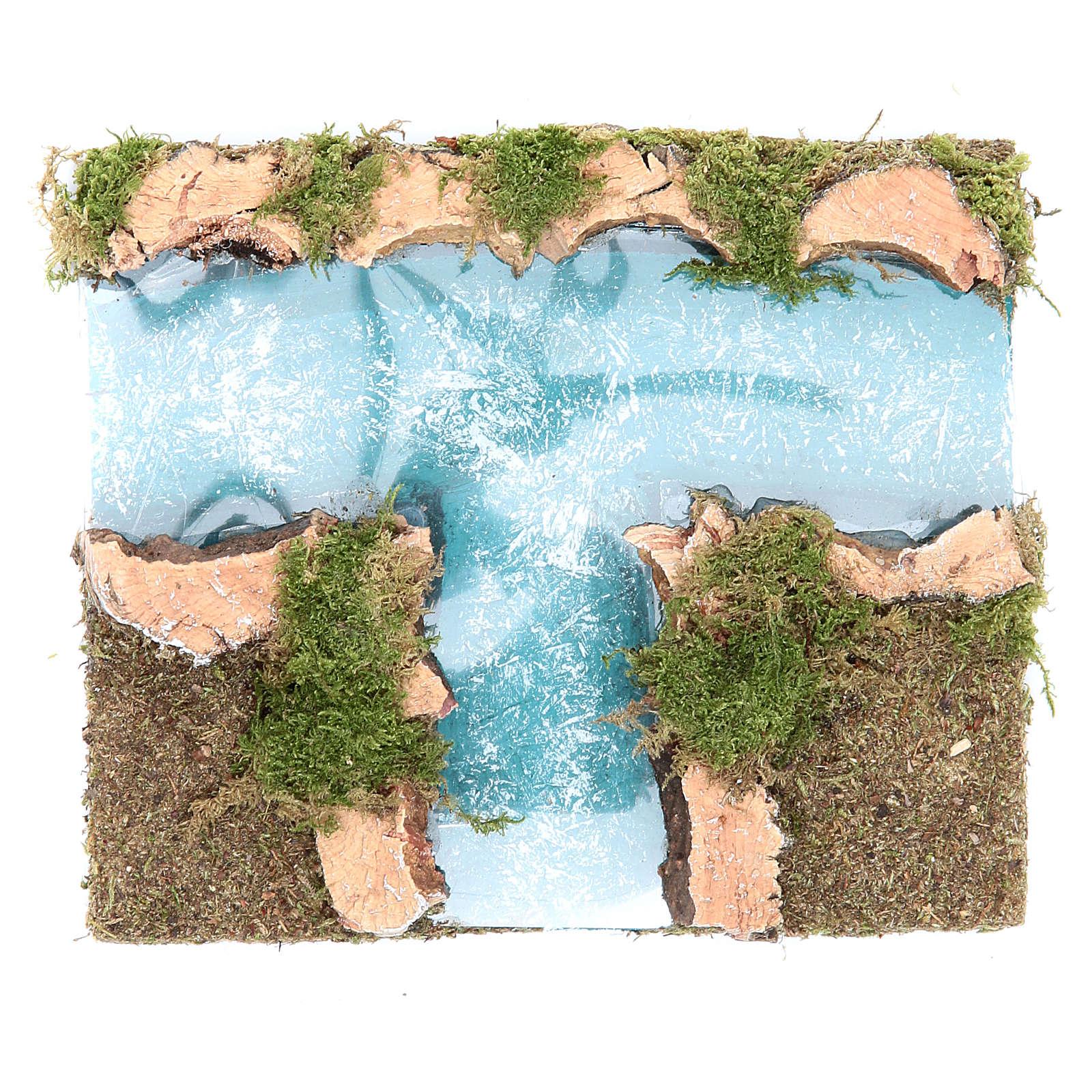Afluente rio presépio componível 16x13 cm 4