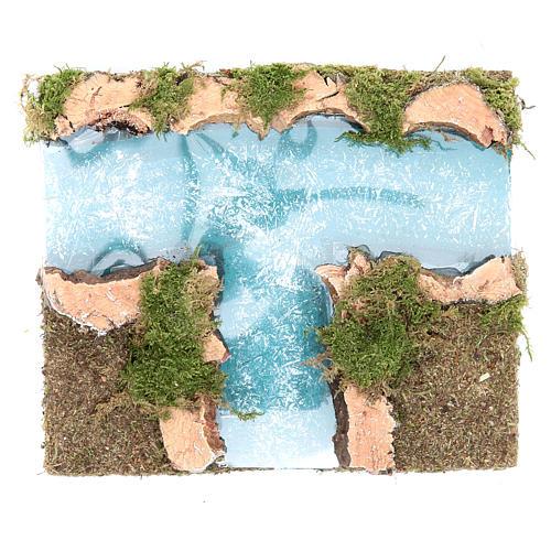 Afluente rio presépio componível 16x13 cm 1