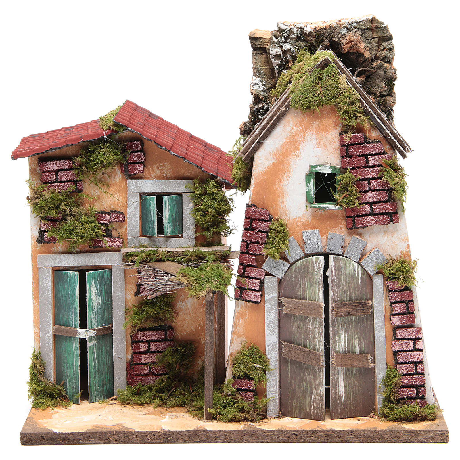 Nativity farmhouse 31x33x18cm 4