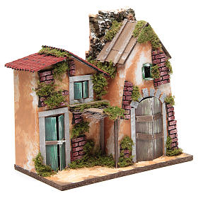 Nativity farmhouse 31x33x18cm s3