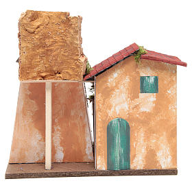 Nativity farmhouse 31x33x18cm s4