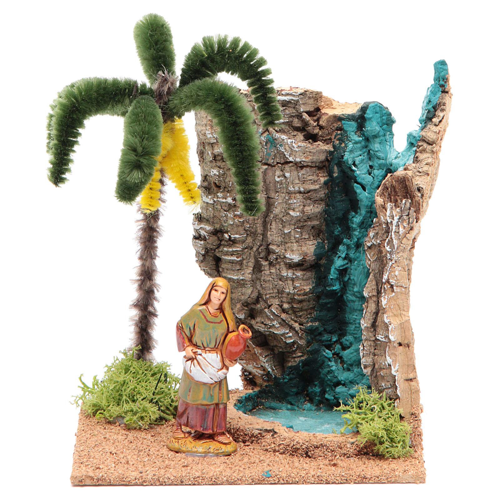 Voyageur dans un oasis 13x10x16 cm pour crèche 4