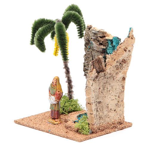 Voyageur dans un oasis 13x10x16 cm pour crèche 2