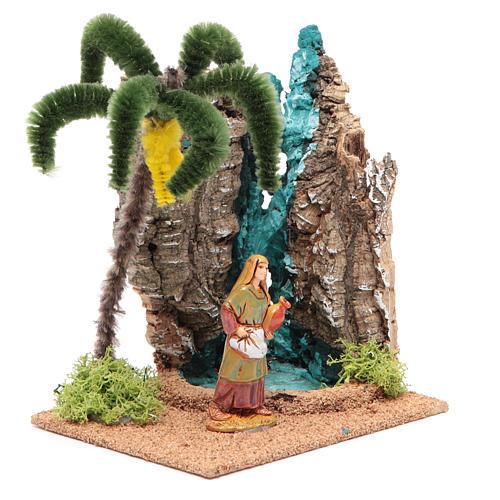 Voyageur dans un oasis 13x10x16 cm pour crèche 3