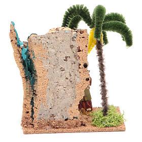 Viandante nell'oasi 13x10x16 cm per presepe s4