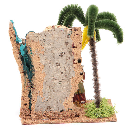 Viandante nell'oasi 13x10x16 cm per presepe 4