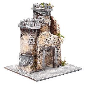 Castillo en resina y corcho belén Napolitano 21x19x17 cm. s3