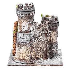 Castle in resin and cork 17x15x15cm for Neapolitan nativity s4