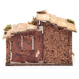 Capanna legno resina sughero presepe Napoli 15x20x15 cm s4