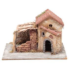 Casa en corcho y resina belén Nápoles 20x28x26 cm s1