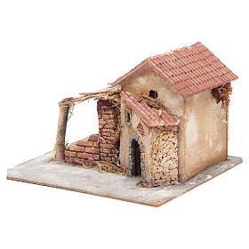 Casa en corcho y resina belén Nápoles 20x28x26 cm s2