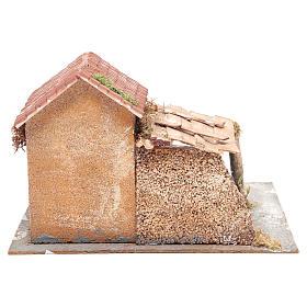 Casa en corcho y resina belén Nápoles 20x28x26 cm s4