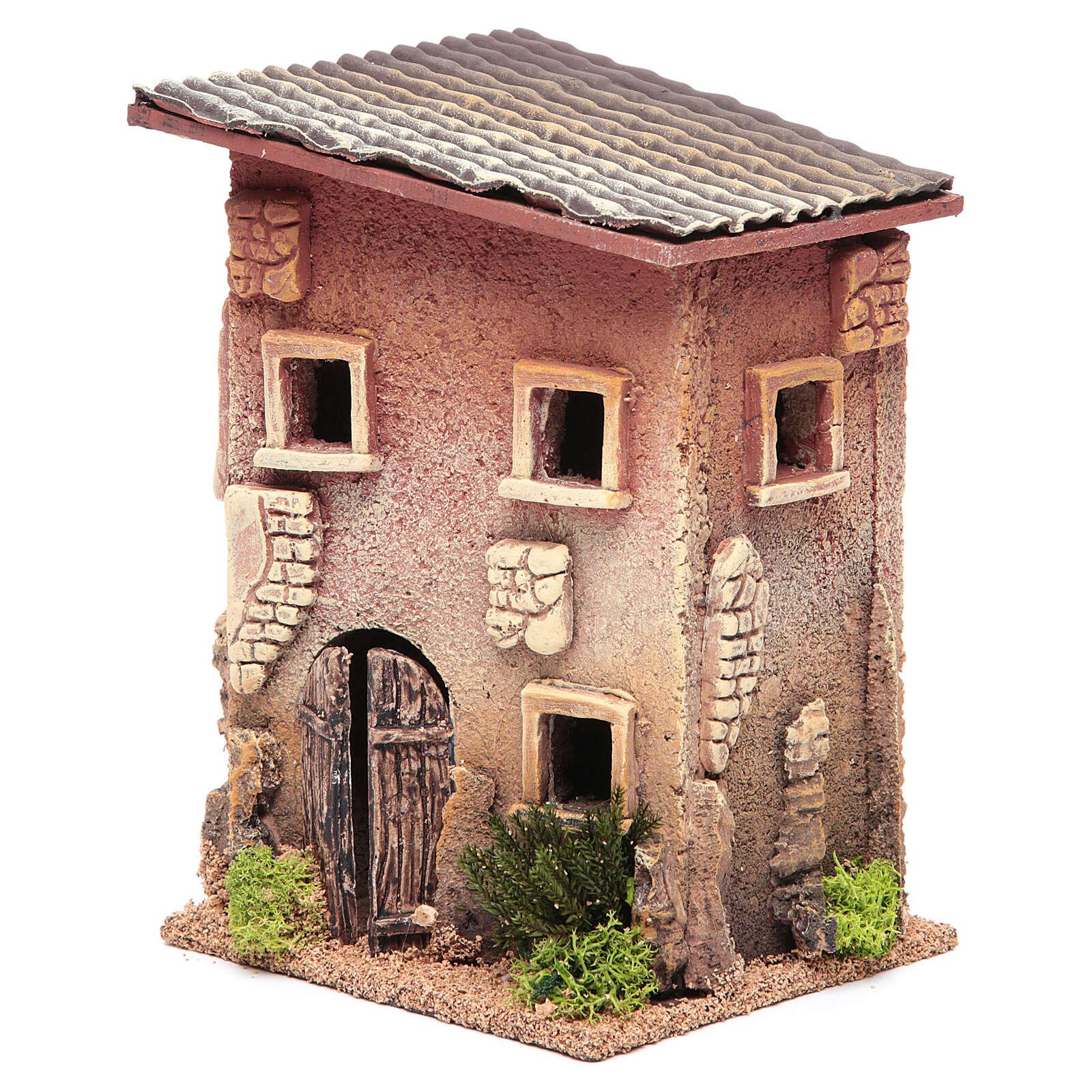 Casa para presépio com figuras altura média 6 cm, 23x15x12cm 4