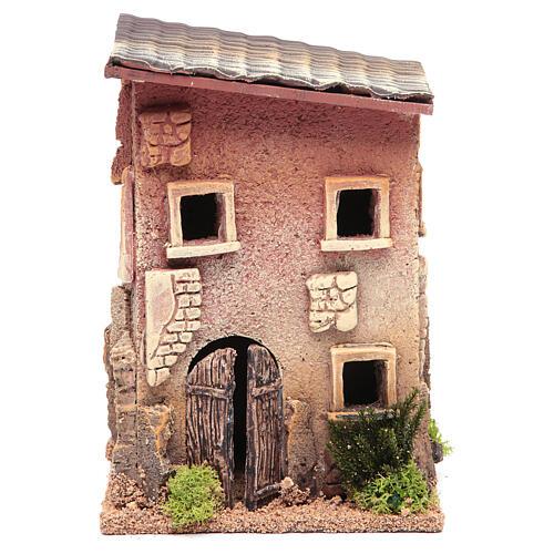 Casa para presépio com figuras altura média 6 cm, 23x15x12cm 1