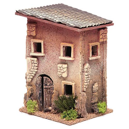 Casa para presépio com figuras altura média 6 cm, 23x15x12cm 2