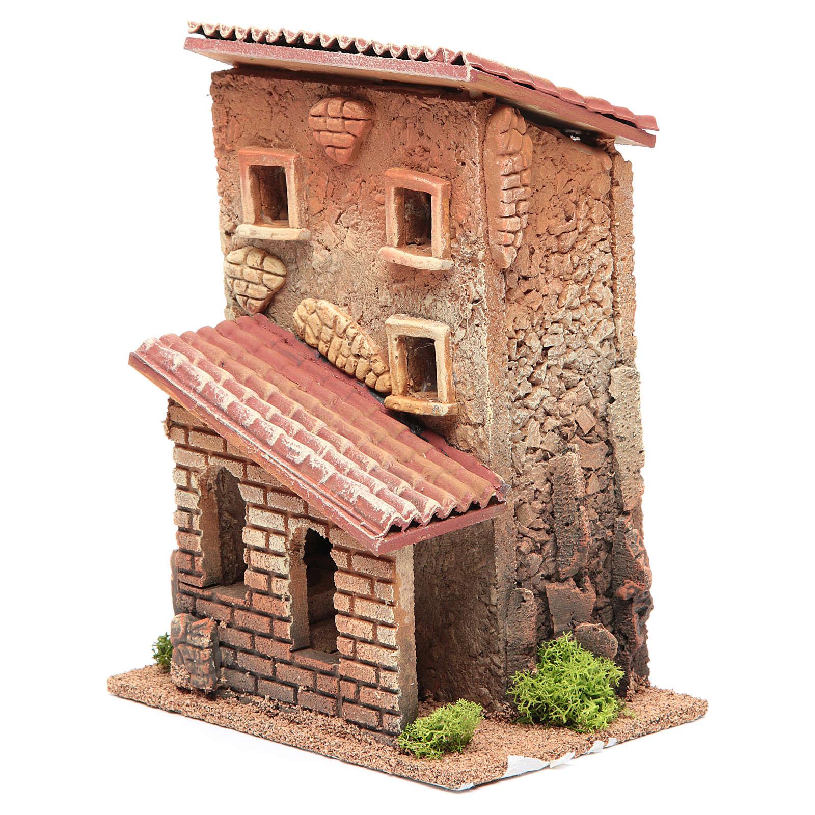 Maison avec escalier crèche 25x18x14 cm pour 6 cm 4