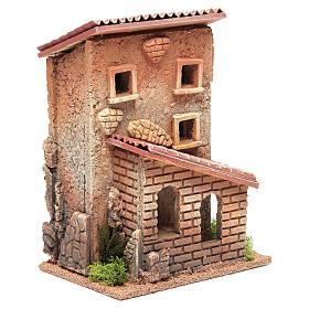 Casa con scala presepe 25x18x14 cm per 6 cm s3