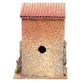 Casa con scala presepe 25x18x14 cm per 6 cm s4