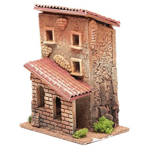 Casa con scala presepe 25x18x14 cm per 6 cm 2
