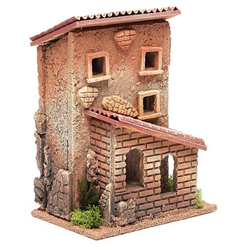 Casa con scala presepe 25x18x14 cm per 6 cm 3