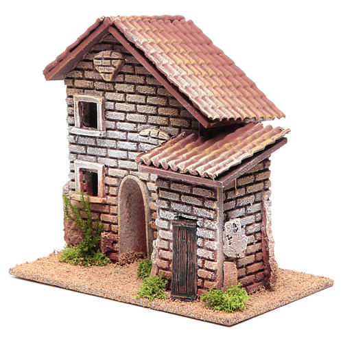 Maison double crèche 20x23x14 cm pour 6 cm 2