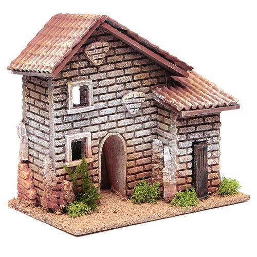 Maison double crèche 20x23x14 cm pour 6 cm 3