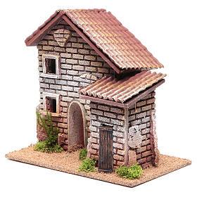 Casa doppia presepe 20x23x14 per 6 cm s2
