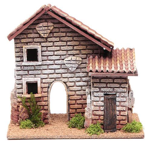 Casa doppia presepe 20x23x14 per 6 cm 1