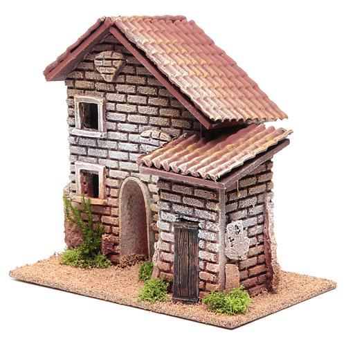 Casa doppia presepe 20x23x14 per 6 cm 2