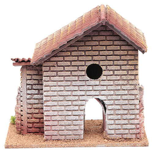 Casa doppia presepe 20x23x14 per 6 cm 4