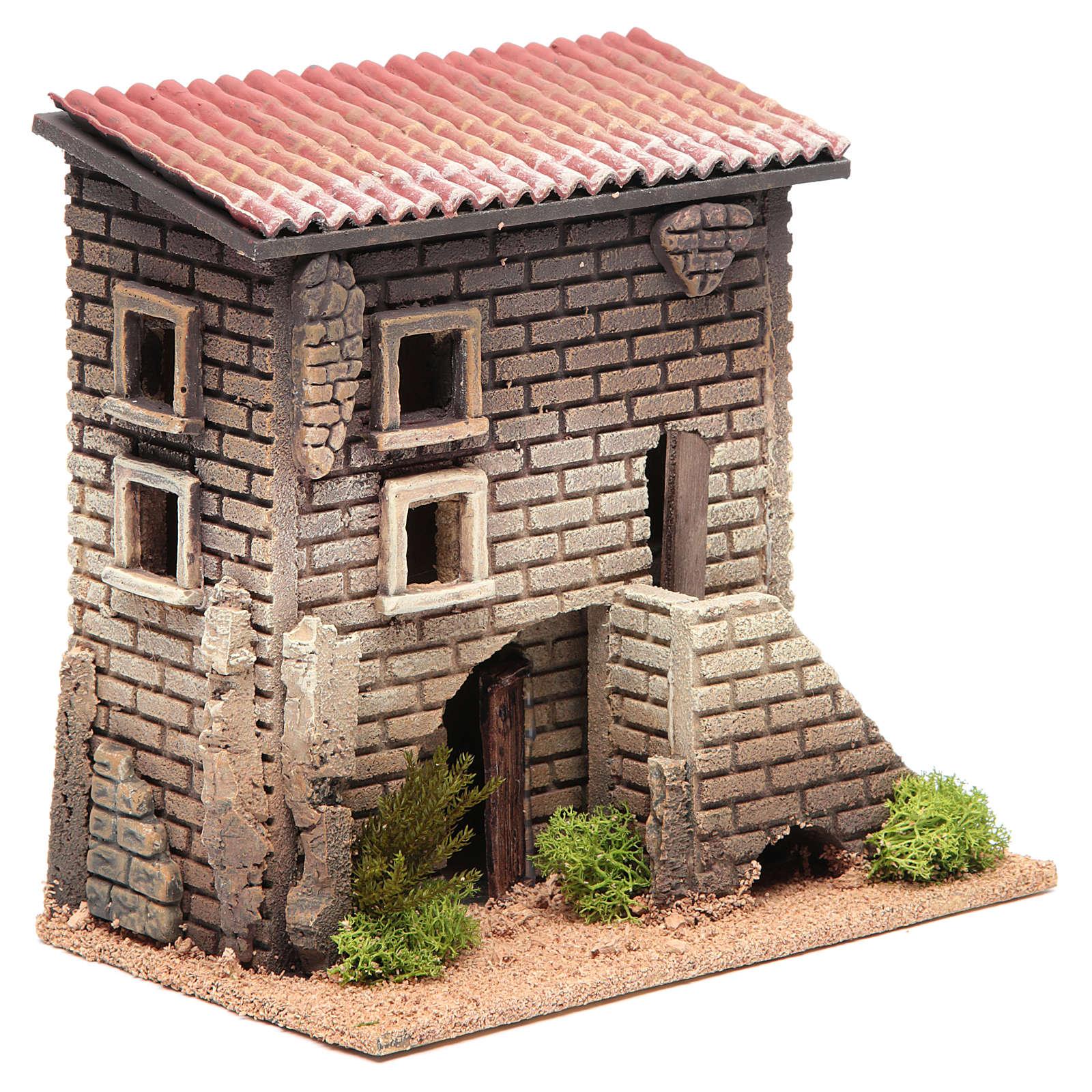 Maison avec petit escalier 23x23x14 pour 6 cm 4