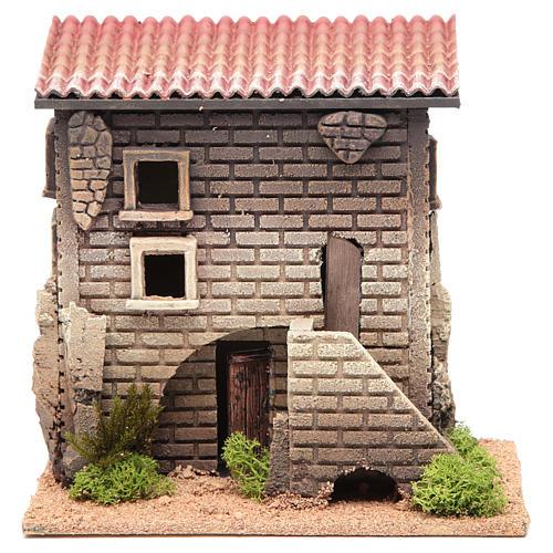 Maison avec petit escalier 23x23x14 pour 6 cm 1