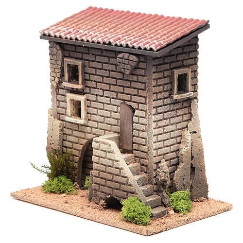 Maison avec petit escalier 23x23x14 pour 6 cm 2