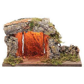 Nativity stable with light catcher 18x33x23cm s1